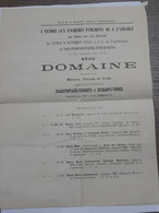 Affiche Vente Aux Enchères Publiques De 1913 - Domaine à Grandfontaine-Fournets Et Orchamps-Vennes ... Lot270 . - Posters