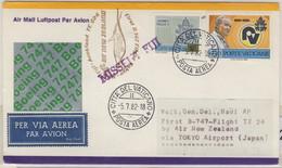 Vatikan - Air New Zealand Zuleitungspost 1st-Flug Tokyo- Nadi 1982 Missent Fiji - Ganzsachen