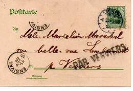 Cachet Par Verviers Op Postkaart/ Sur CP  Aachen - Unclassified