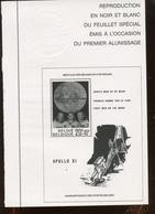Joli Feuillet édité Par La Poste En 1989. Alunissage. Moonlanding. - Zwarte/witte Blaadjes