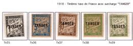 Ex Colonie Française * Maroc  Taxe   35/39 Qualité Luxe N** - Portomarken