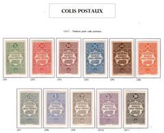 Ex Colonie Française * Maroc  Colis Postaux 1/11   1/8  N**  9 / 11 N* - Segnatasse