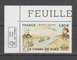 FRANCE / 2019 / Y&T N° 5347 ** : Canal De Suez X 1 CdF FSC - Neufs