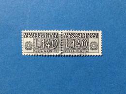 1960 ITALIA PACCHI IN CONCESSIONE 140 LIRE FRANCOBOLLO USATO ITALY STAMP USED - Postal Parcels