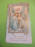 Image Pieuse Ancienne/Souvenir 1ére Communion/Allons à Jesus/Eglise D'ECRETTEVILLE Les BAONS/Paul Carpentier/1924  IMP88 - Imágenes Religiosas