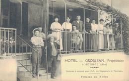 J128 - 01 - SEYSSEL - Ain - Hôtel Grosjean, Propriétaire - Voitures à Volonté Pour MM. Les Voyageurs Et Touristes - Seyssel