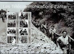 Les Télécommunications D'antan; Bloc Format A4  Avec 8 Timbres Obl.  25/06/2012 - Private
