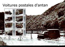 Voitures Postales  D'antan; Bloc Format A4  Avec 8 Timbres Obl.  25/06/2012 - Private