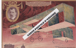 LEFEVRE-UTILE - AVIATION - BIPLAN DELAGRANGE - ROME 1908 - Reclame