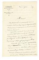 """Louis Ulbach ( 1822 - 1889 ) Lettre Autographe 1849 ( Papier En-tête """" Le Propagateur .. De L'Aube """" ) - Autogramme & Autographen"""