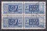 Italia Rep. Pacchi Postali L. 100 -Fil. Stelle  Usato Simile - Postal Parcels
