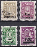 NO016 – NORVEGE - NORWAY – 1929 – POSTAGE DUE OVERPRINTED – SG # 204/06-208 USED 8,75 € - Gebruikt