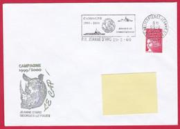 3875 Marine, PH Jeanne D'Arc, Campagne 1999-2000, Le Cap, Escale Au Cap, Afrique Du Sud,  Oblit. Mécanique JDA, 25-2-200 - Posta Marittima