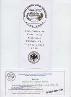 Franc-maçonnerie, 2010, Installation Loge Trenca Vel, 2 Docs, Carcassonne, G.O.D.F.allumage Des Feux - Religion & Esotericism