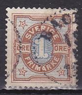Sweden, 1892, Numeral, 1ö, USED - Oblitérés