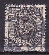 Sweden, 1912, Coat Of Arms/Wavey Lines Wmk, 1ö, USED - Oblitérés