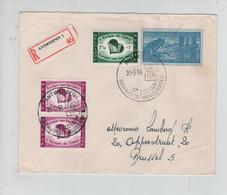 REF2487/ TP 1090(2)-1091 Europe Du Coeur Surtaxe + Découpure D'Entier Aérogramme C.Antwerpen 30/5/59 > Brussel - Brieven En Documenten