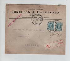 REF2489/ TP 207 (2) Houyoux S/L. Recommandée Jokelson&Handtsaem C.Gent 1/4/27 Avec Contenu > Eeschen - Brieven En Documenten