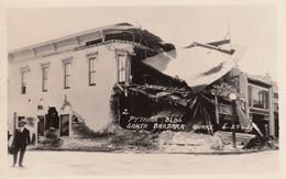 Santa Barbara California Earthquake Damage 1925, Pythian Building Ruins, C1920s Vintage Real Photo Postcard - Santa Barbara