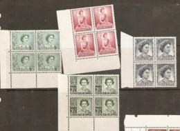 Australia  1959  Various Values Mounted Mint Blocks Of Four - Neufs