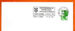 66 LATOUR DE FRANCE  FESTIVAL DE LA CHANSON  1986 Lettrene Tière N° NO 622 - Mechanical Postmarks (Advertisement)