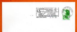 54 MONT SAINT MARTIN    CARTES POSTALES   1986 Lettrene Tière N° NO 628 - Mechanical Postmarks (Advertisement)
