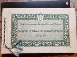 Egypt, Souviner Congres Postal Universal Le Caire 1934 !!! Rare !!! - Nuevos