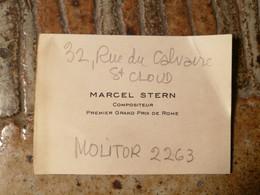 Marcel Stern 1909/1989, Compositeur,violoniste De - Autogramme & Autographen