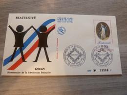 CHAMPAGNEY - HAUTE-SAONE - BICENTENAIRE DE LA REVOLUTION FRANCAISE - EDITIONS J.F. COURBEVOIE - ANNEE 1989 - - Oblitérés