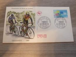 CHAMBERY - SAVOIE - CHAMPIONNAT DU MONDE DE CYCLISME - EDITIONS J.F. COURBEVOIE - ANNEE 1989 - - Oblitérés