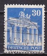 Germany US & British, 1950, Brandenburg Gate/Perf 14, 30pf, USED - Zone Anglo-Américaine