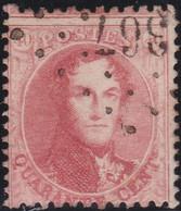 Belgie   .    OBP    .    16A (2 Scans)    .     O      .       Gebruikt   .   /   .   Oblitéré - 1863-1864 Médaillons (13/16)