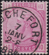 Belgie   .    OBP    .    38 .     O      .       Gebruikt   .   /   .   Oblitéré - 1883 Léopold II