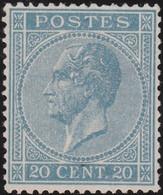 Belgie   .    OBP    .    18 A   (2 Scans)    .    (*)       .       Geen  Gom   .   /   .   Pas De Gomme - 1865-1866 Profil Gauche