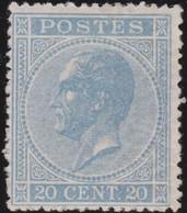 Belgie   .  OBP   .    18A   (2 Scans)   .   *   .     Ongebruikt Met   Gom   .   /   .   Neuf Avec Gomme - 1865-1866 Profilo Sinistro