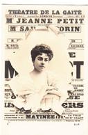 FEMME Artiste Melle Jeanne PETIT   Affiche Crevée   THEATRE DE LA GAITE - Women