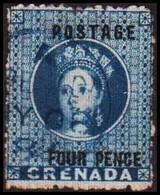 1881. GRENADA. Victoria. POSTAGE FOUR PENCE.  (MICHEL 10) - JF410596 - Grenada (...-1974)