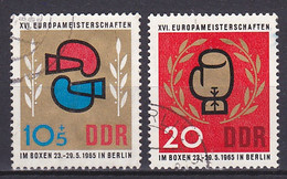 Germany GDR, 1965, European Boxing Championships, Set, USED - Used Stamps