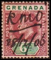 1904-1906. GRENADA. Edvard VII. 6 D. Pen Cancel 28/12/06 (MICHEL 56) - JF410623 - Grenada (...-1974)