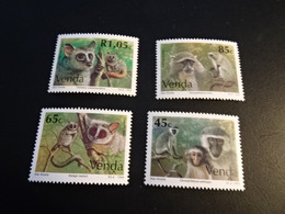 K45543-   Set   MNh Venda 1994-   MI. 270 - 273   - SC.   273 - 276 - Monkeys - Scimmie