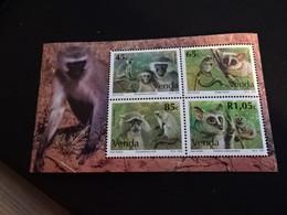 K45544-   Bloc   MNh Venda 1994-  SC.   273 - 276a - Monkeys - Scimmie