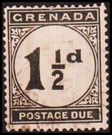 1921-1922. GRENADA. SURCHARGE POSTAGE. 1½ D.  (MICHEL Porto 12) - JF410631 - Grenada (...-1974)