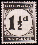 1921-1922. GRENADA. SURCHARGE POSTAGE. 1½ D.  (MICHEL Porto 12) - JF410632 - Grenada (...-1974)