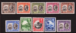 1934. GRENADA. Georg V. CountrymotivesComplete Set 10 Stamps. Hinged. (MICHEL 106-115) - JF410634 - Grenada (...-1974)