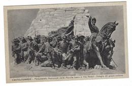 7913 - CASTELFIDARDO ANCONA MONUMENTO NAZIONALE DELLE MARCHE DETTAGLIO GRUPPO SCULTOREO 1920 CIRCA - Andere Städte