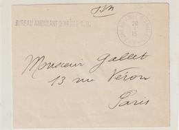 13671 BUREAU AMBULANT D'ARMÉE 1.B. Sur Devant De Lettre - Le 20/3/15 - Oorlog 1914-18