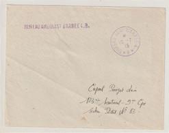 13673 BUREAU AMBULANT D'ARMÉE 4.B. Sur Devant De Lettre - Le 10/7/15 - Oorlog 1914-18