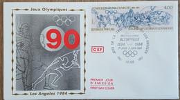 FDC 1984 - YT N°2314 - CIO / JEUX OLYMPIQUES DE LOS ANGELES - PARIS - 1980-1989