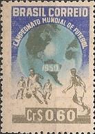 BRAZIL - BRAZIL'50 FIFA WORLD SOCCER CUP (PLAYERS AND GLOBE, Cr$ 0,60) 1950 - MNH - 1950 – Brazilië