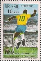 BRAZIL - 1000th GOAL FROM PELÉ 1969 - MNH - Otros